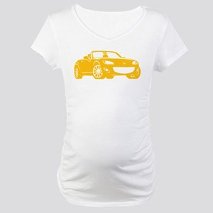 NC 2 Yellow Miata Maternity T-Shirt