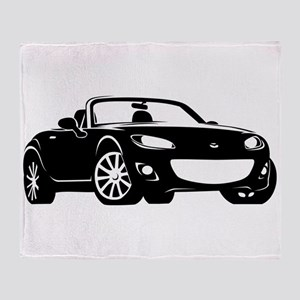 NC 2 Black Miata Throw Blanket