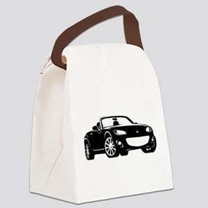 NC 2 Black Miata Canvas Lunch Bag
