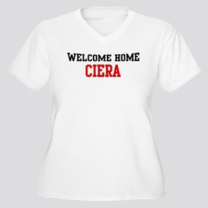 Welcome home CIERA Women's Plus Size V-Neck T-Shir