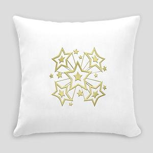 Gold Star Burst Everyday Pillow