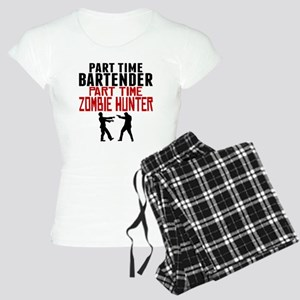 Bartender Part Time Zombie Hunter Pajamas