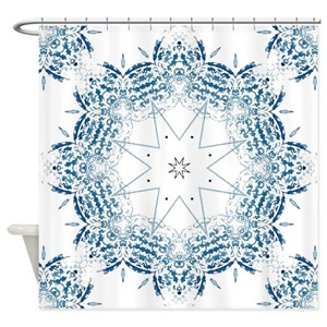 Blue Coral Shower Curtains