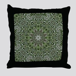hipster preppy leaves mandala Throw Pillow