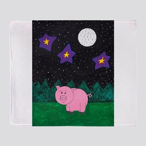 Floid at night Throw Blanket