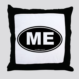 Maine ME Euro Oval Throw Pillow