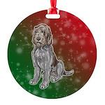 Spinone Italiano Round Ornament