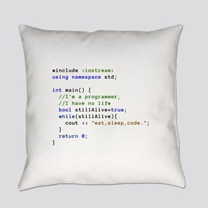 Eat, Sleep, and Code Repeatedly Everyday Pillow