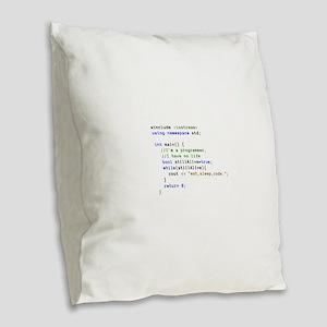 Eat, Sleep, and Code Repeatedl Burlap Throw Pillow