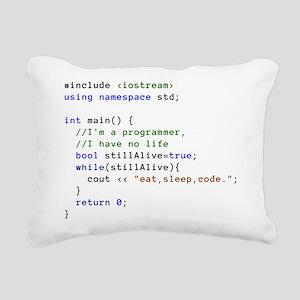 Eat, Sleep, and Code Rep Rectangular Canvas Pillow
