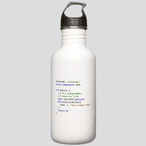 Eat, Sleep, and Code R Stainless Water Bottle 1.0L