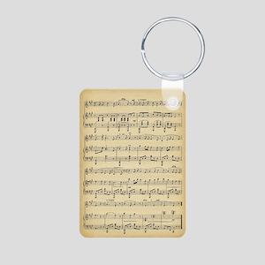 Antique Sheet Music Keychains