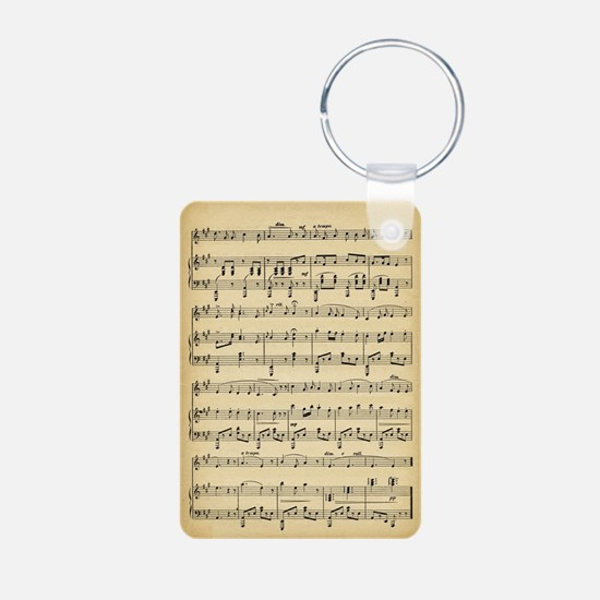 Antique Sheet Music Keychains
