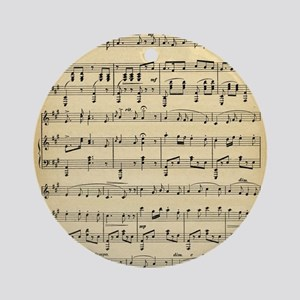 Antique Sheet Music Ornament (Round)