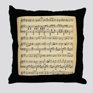Antique Sheet Music Throw Pillow