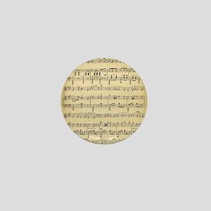 Antique Sheet Music Mini Button