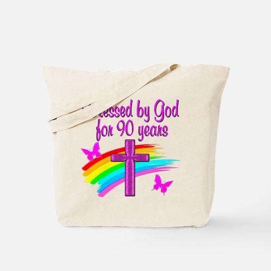 CHRISTIAN 90 YR OLD Tote Bag