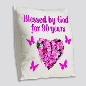 CHRISTIAN 90 YR OLD Burlap Throw Pillow