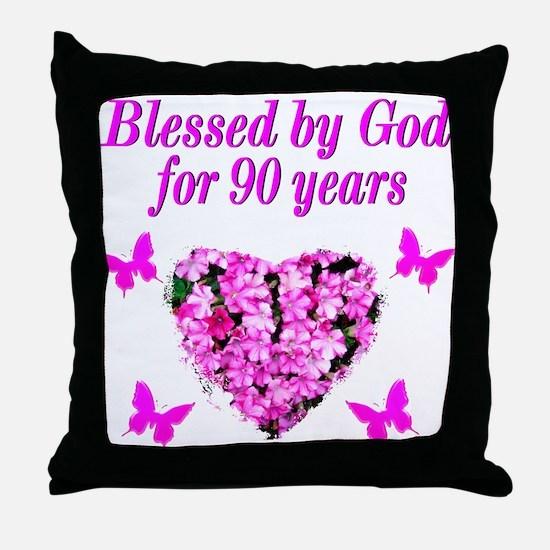 CHRISTIAN 90 YR OLD Throw Pillow