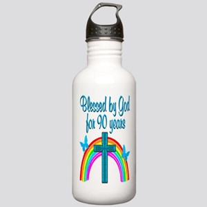 CHRISTIAN 90 YR OLD Stainless Water Bottle 1.0L