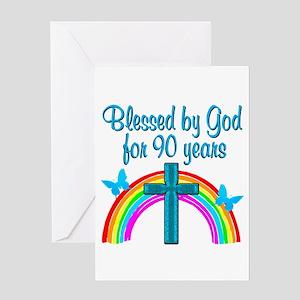 CHRISTIAN 90 YR OLD Greeting Card