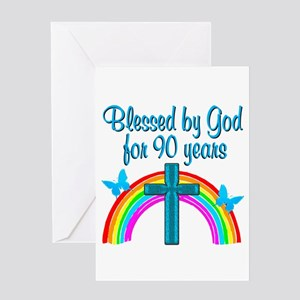 CHRISTIAN 90 YR OLD Greeting Card