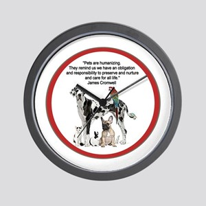 Pets Quotation Wall Clock