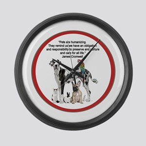 Pets Quotation Large Wall Clock