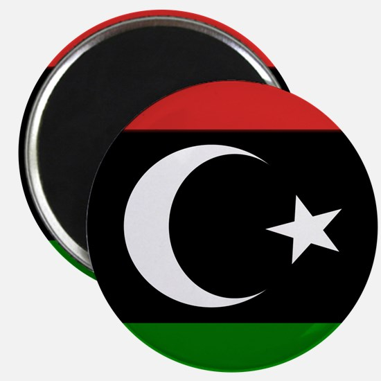 Square Libyan Flag Magnets