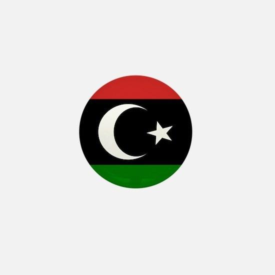 Square Libyan Flag Mini Button