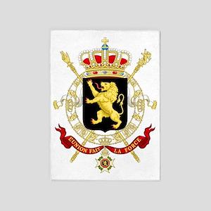 Coat of Arms Belgium 5'x7'Area Rug