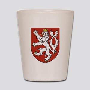 Coat of Arms czechoslovakia Shot Glass