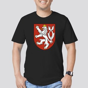 Coat of Arms czechoslo Men's Fitted T-Shirt (dark)