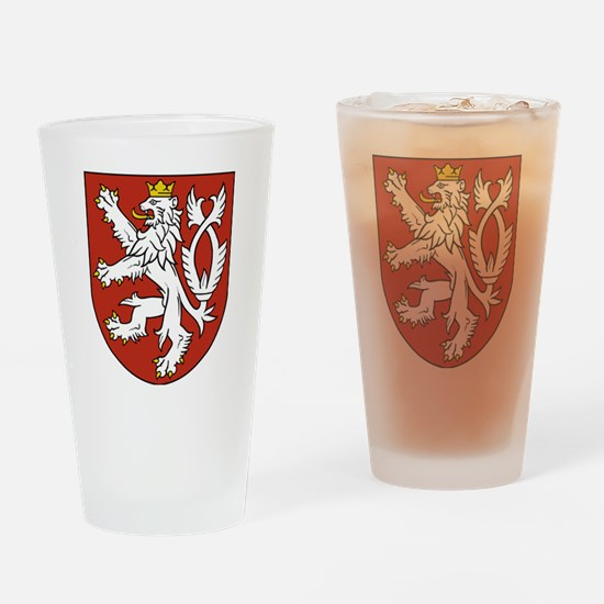 Coat of Arms czechoslovakia Drinking Glass