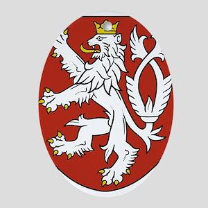 Coat of Arms czechoslovakia Ornament (Oval)