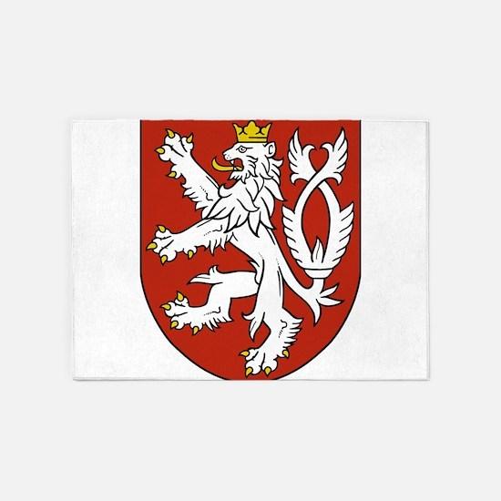 Coat of Arms czechoslovakia 5'x7'Area Rug