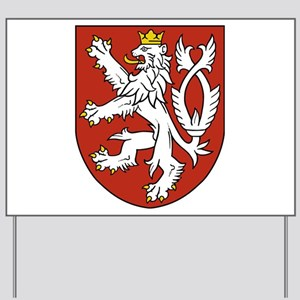Coat of Arms czechoslovakia Yard Sign