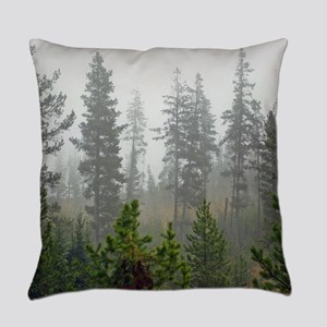 Misty forest Everyday Pillow