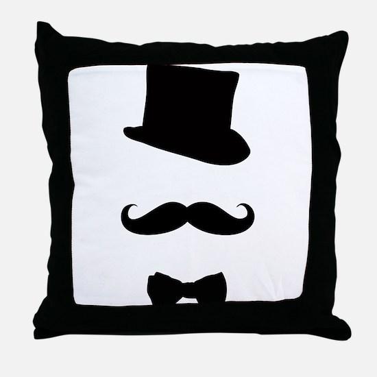 Mustache man Throw Pillow