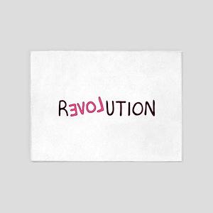 Revolution Love Backwards 5'x7'Area Rug