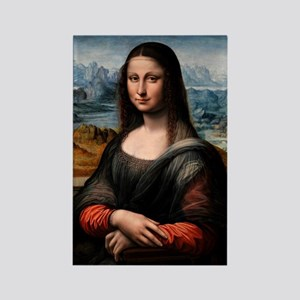 Mona Lisa - Prado (the first Mona Rectangle Magnet