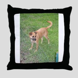 carolina dog full 2 Throw Pillow