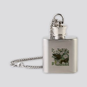 Carolina Pigeon John James Audubon Birds Flask Nec