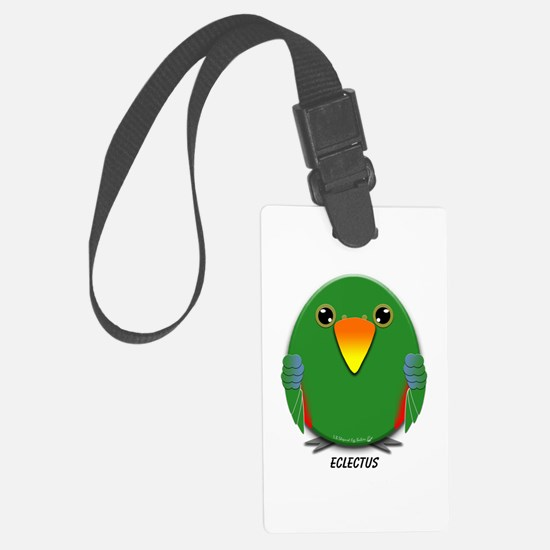 Male Eclectus Parrot Luggage Tag