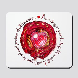 Red Dragon Heart Mousepad