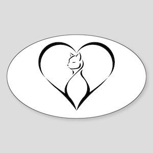 Kitty Love Sticker (Oval)
