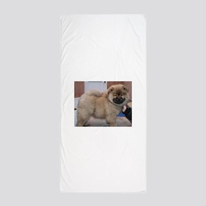puppy chow chow Beach Towel