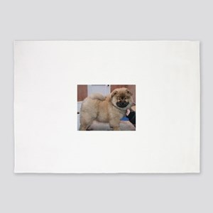 puppy chow chow 5'x7'Area Rug