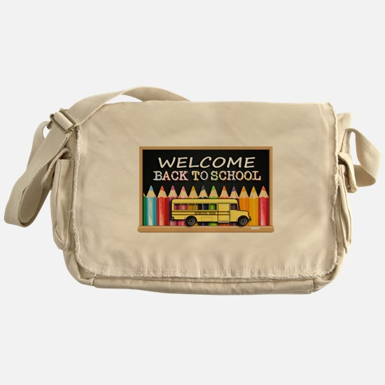 WELCOME BACK TO SCHOOL BUS Messenger Bag