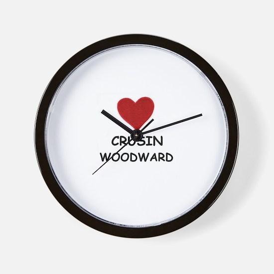 LOVE CRUSIN WOODWARD Wall Clock